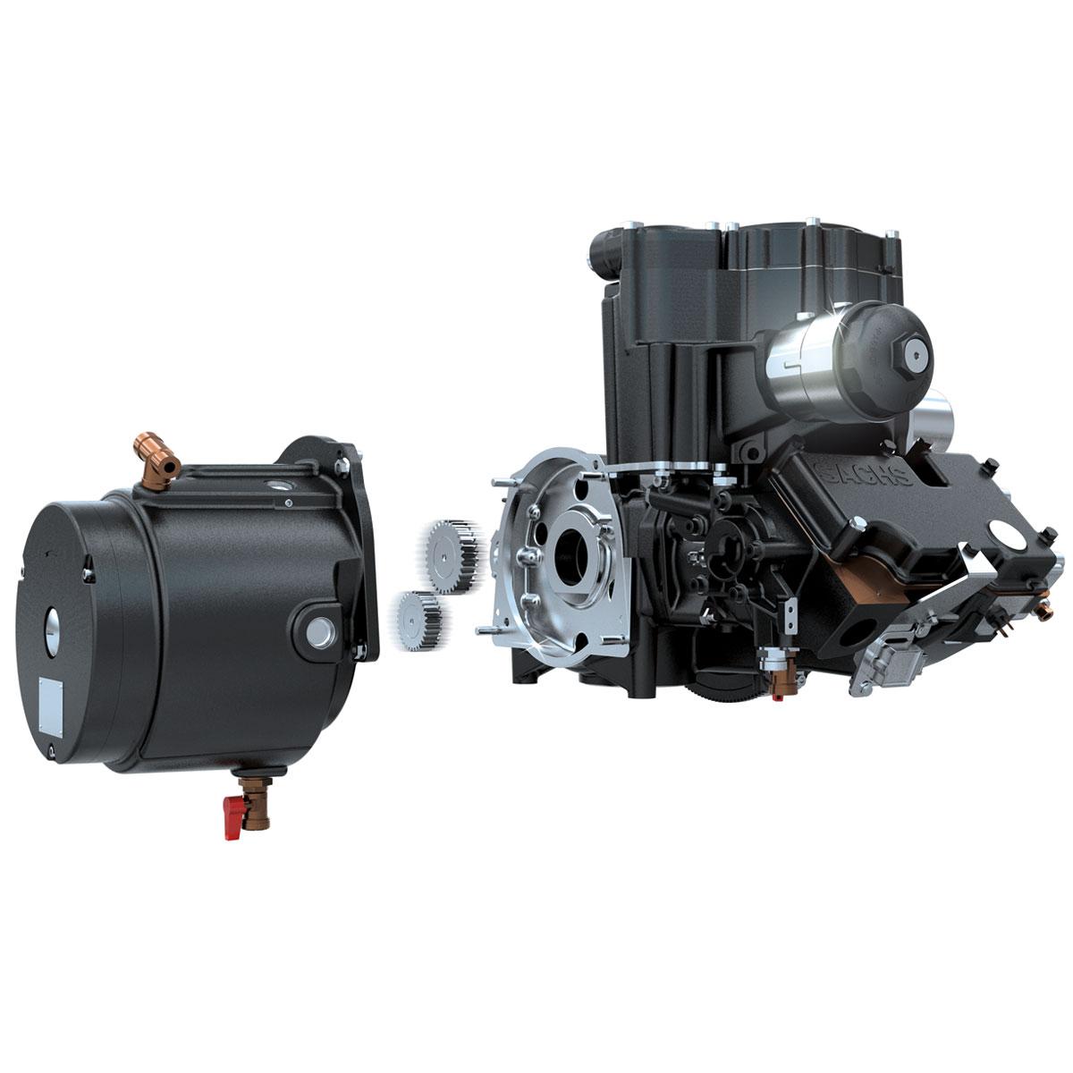 KWK BHKW Senertec Dachs Motor mit Dynamo / www.derdachs.de