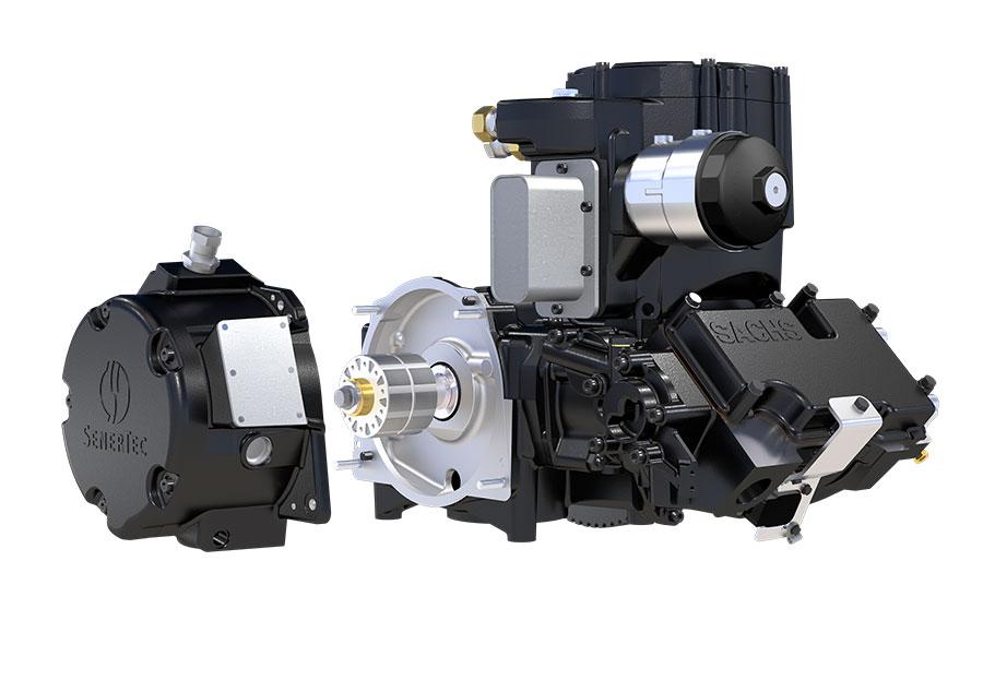 Dachs Motor und Generator