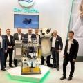 Das Messe-Team von SenerTec auf der Messe E-World, auf der SenerTec die Dachs BHKWs präsentierte.