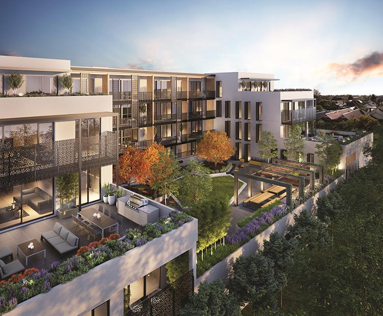 Mehrfamilienhäuser im Grünen, in denen ein Dachs Mini-BHKW als stromerzeugende Heizung eingebaut sein könnte.