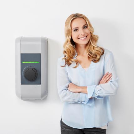 Einfach an der Heizung tanken - mit der KEBA-Ladesäule haben Sie die eigene E-Tankstelle für Ihr Zuhause oder Ihren Gewerbebetrieb.