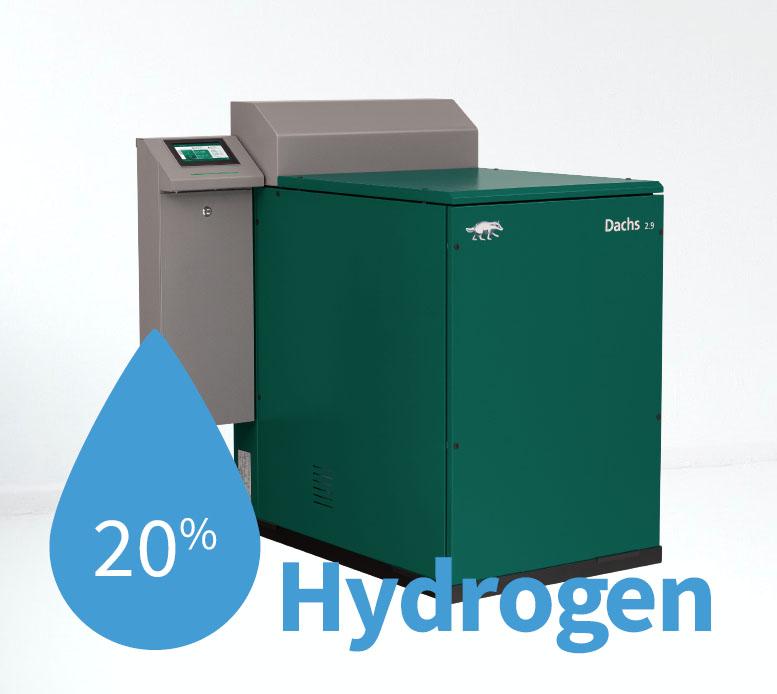20 percent Hydrogen: Der Dachs kann bis zu 20 % Wasserstoff - offiziell vom TÜV zertifiziert!